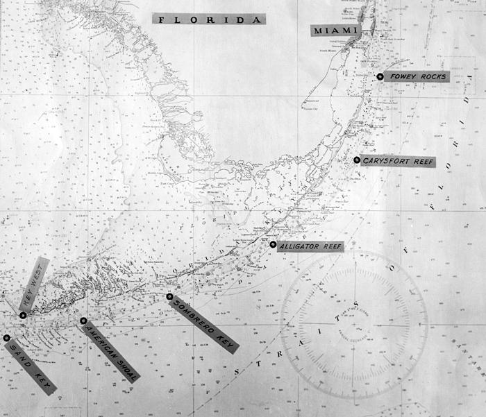 American Shoal Lighthouse Florida At Lighthousefriendscom - Florida keys us map