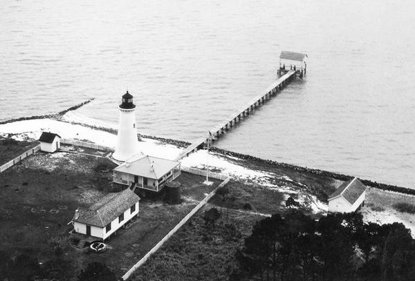 Round Island Lighthouse Mississippi at Lighthousefriendscom