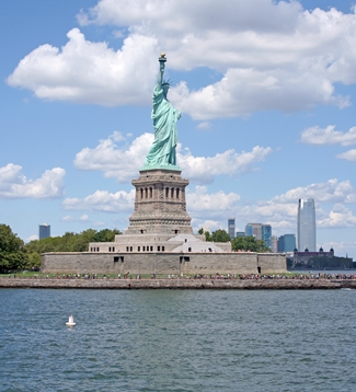 Statue Of Liberty Lighthouse New York At Lighthousefriendscom - Where is the statue of liberty located