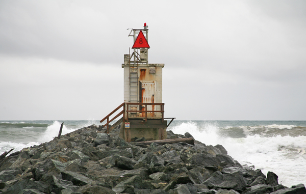 At The End Of South Jetty Dwelling Was Disassembled And Lighthouse Abandoned Stood Neglected For Twenty Four Years