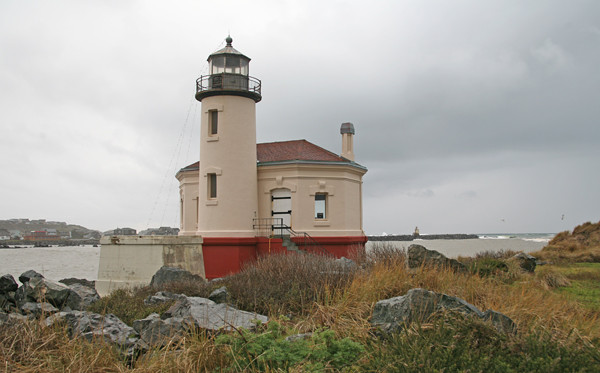 Coquille River Bandon Lighthouse Oregon At