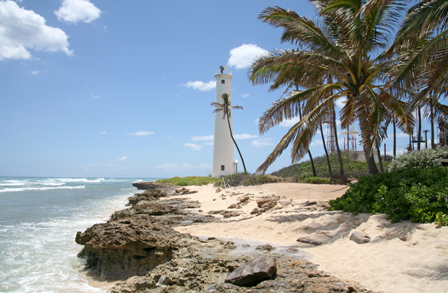Barbers Point Lighthouse Hawaii At Lighthousefriends Com