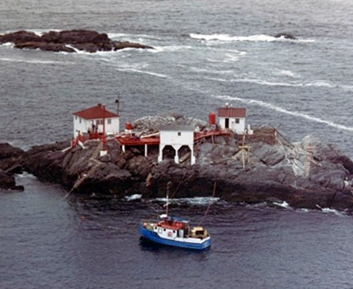 Colombier Islands Lighthouse Newfoundland Canada At
