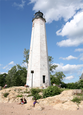 Five Mile Point Old New Haven Lighthouse Connecticut At