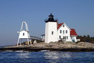 Hendricks Head Light. Southport, Maine.   Mapio.net  Hendricks Head Light