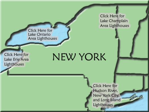 New York Lighthouse Map
