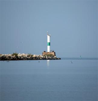 Sandusky Harbor Breakwater Lighthouse Ohio At